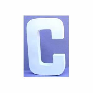 Lettre En Carton À Peindre : lettre 3d en carton c 12cm maison pratic boutique pour vos loisirs creatifs et votre deco ~ Nature-et-papiers.com Idées de Décoration