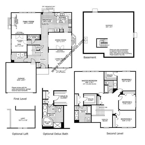 dsld homes floor plans lafayette lafayette model in the lakewood ridge subdivision in