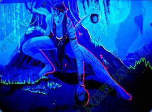 Transparent paint Transparent fluorescent paint from Noxton