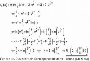 Schnittpunkt Mit X Achse Berechnen : l sungen zu parameteraufgaben zur differential und integralrechnung i ~ Themetempest.com Abrechnung