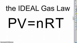 Introduction To The Ideal Gas Law Formula
