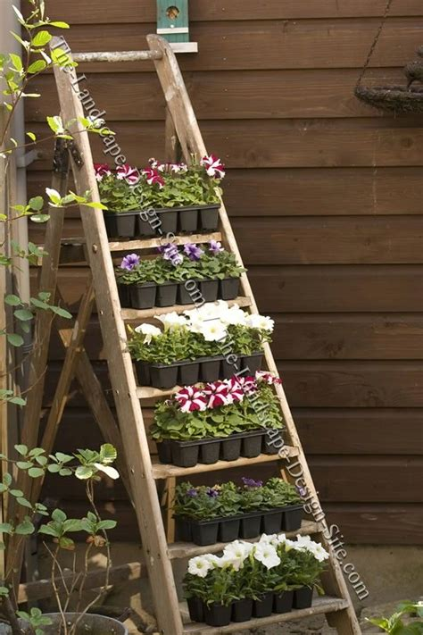 old ladder planter a unique piece of garden decor space