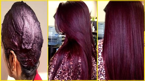 How Make 100 Natural Burgundy Hair Color With Henna
