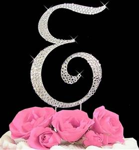 Monograms letters ideas initials cakes google search for Letter e cake topper