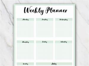 12 Free Weekly Planner Templates in PDF [2018] Printable
