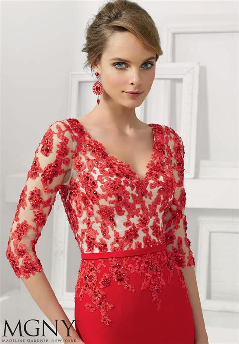 lace applique beaded lace appliques evening gown style 71125 morilee