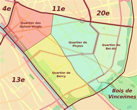 13e arrondissement de wikivoyage le guide de fichier 12e arrondissement quartiers svg