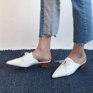 Shoe Size Conversion Chart Women Women 39 S White Pointed Toe Oxford Slide Mule Shoes