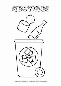dustbin free colouring pages With how to recycle