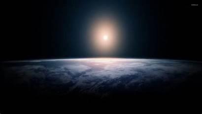 Horizon Space Sun Wallpapers Planet