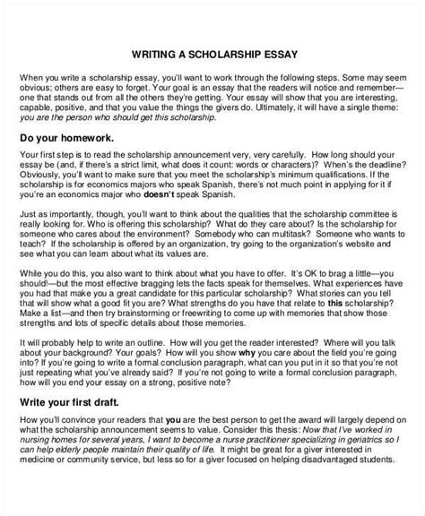 scholarship essay format examples and forms 677 | 8 scholarship essay examples samples within scholarship essay format
