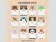 Calendário 2018 Baixar vetores grátis