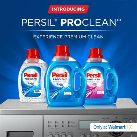 persil proclean laundry detergent coupon walmart deal