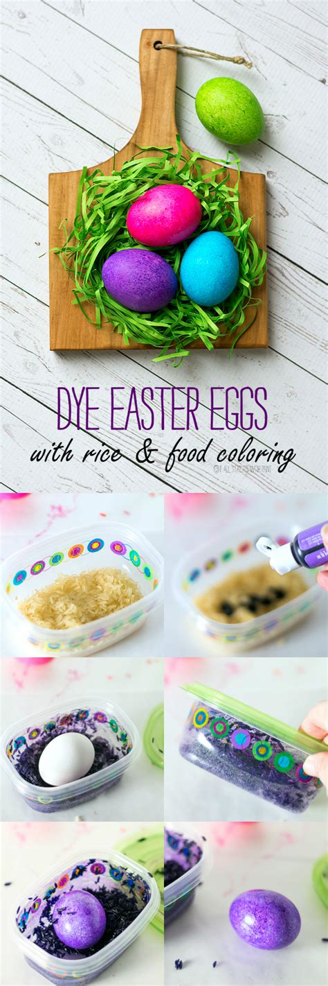dye easter eggs  rice food coloring   started