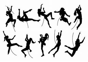 Silhouette Image Of Wall Climbing - Download Free Vector ...