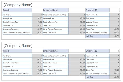 salarypay slip templates small business resource