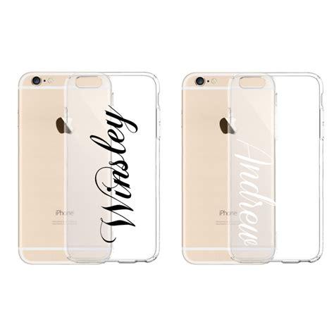 personalized custom  clear tpu rubber case  iphone