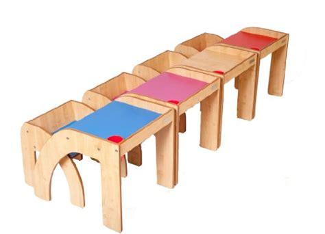 helper funstation ensemble table bureau et chaise en bois pour enfants nature