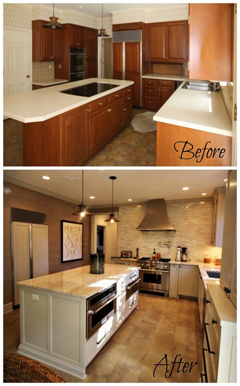 Kitchen Before And After by Before After Kitchen Renovation Guthmann Construction