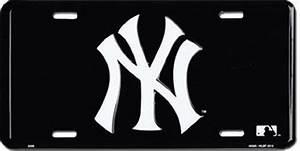 New York Yankees BLACK Aluminum Auto License Plate