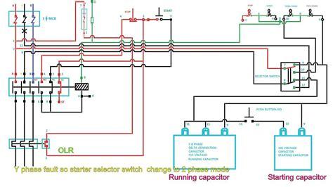 single phase to 3 phase motor wiring diagram wiring