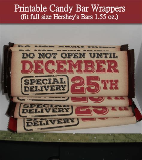 With our free template, it couldn't be easier to bring these pesky characters alive!… Vintage Candy Bar Wrapper Printables - Christmas Crafts - craftbits.com