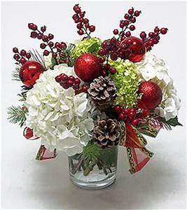 Holiday Hydrangeas & Berries Centerpiece