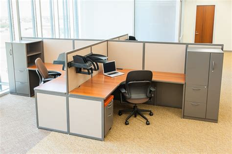empty cubicles in a modern office building by custom office cubicles designed to fit your office setting