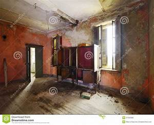 Abandoned Living Room Stock Images
