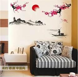 sakura japanese pink cherry blossom tree branch decor wall