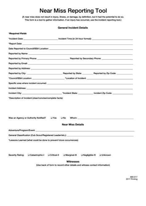 fillable   incident information report printable