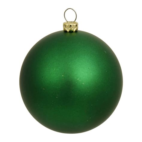 vickerman 6 quot green matte christmas ball ornament