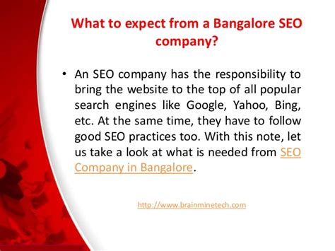 seo in bangalore needed from seo company in bangalore