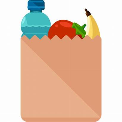 Grocery Groceries Bag Clipart Clip Supermarket Shopping