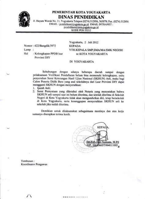 contoh surat dinas resmi pemerintahan kesehatan