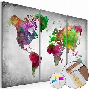 Pinnwand Weltkarte Kork : leinwandbilder xxl pinnwand kork leinwand bild weltkarte gro e auswahl best type ebay ~ Markanthonyermac.com Haus und Dekorationen