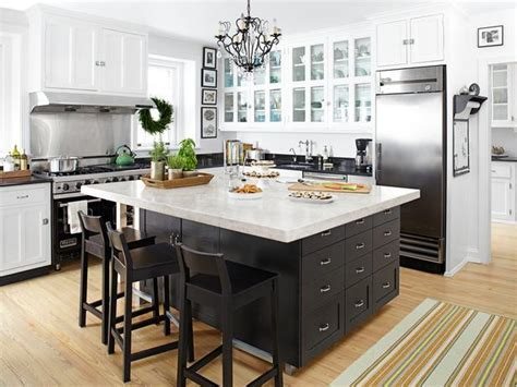 Black Kitchen Island   Transitional   kitchen   HGTV