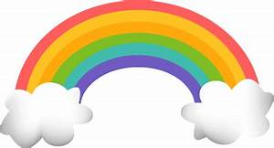 Rainbow With Clouds Clipart | Clipart Panda - Free Clipart ...