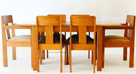 eiken eethoek stoelen amsterdamse school eiken eethoek met uitschuiftafel en zes