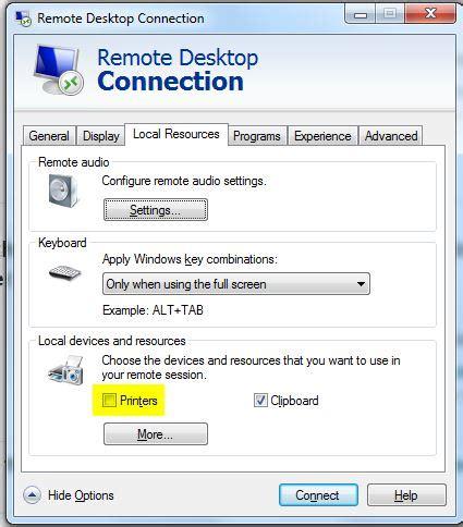 windows unable  remove redirected printer super user