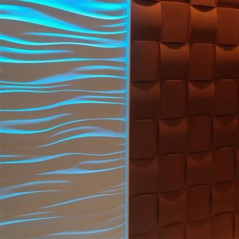 Wall 3d by 3d Wall Tiles Wave Wall With Led Lighting Woven Wall