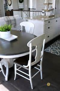 furniture kitchen table farmhouse style painted kitchen table and chairs makeover what knows