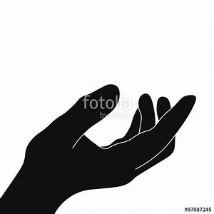 """""""The palm of the hand vector path stretches help"""" Stock ..."""
