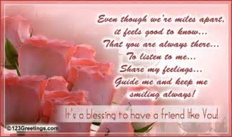 for a friend who 39 s a blessing free between friends ecards 123 greetings
