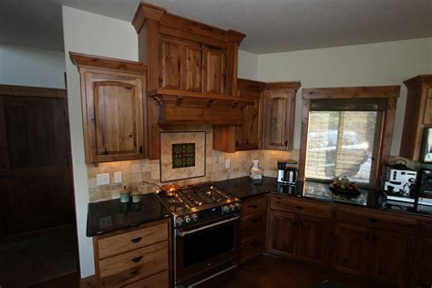 knotty hickory kitchen cabinets affordable custom cabinets showroom 6671