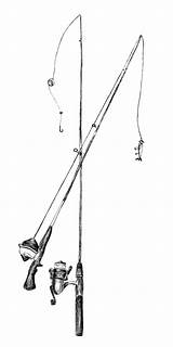Fishing Pole Coloring sketch template