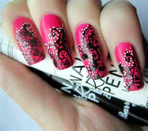 Easy nail art designs with pen images