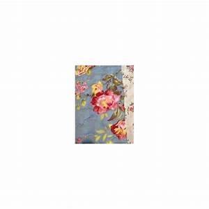 Jeté De Lit : jet de lit en boutis bleu et roses anglaises 240 x 260 ~ Teatrodelosmanantiales.com Idées de Décoration