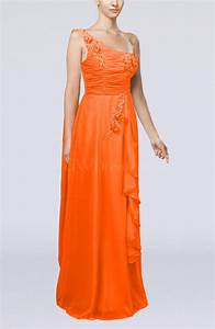 tangerine elegant sheath sleeveless zipper chiffon ruching With tangerine dresses for wedding