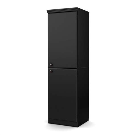 south shore storage cabinet black south shore narrow storage cabinet in black